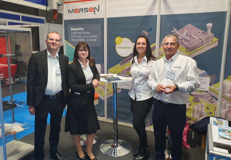 Mersen working the stand at Northern Manufacturing located in Manchester.